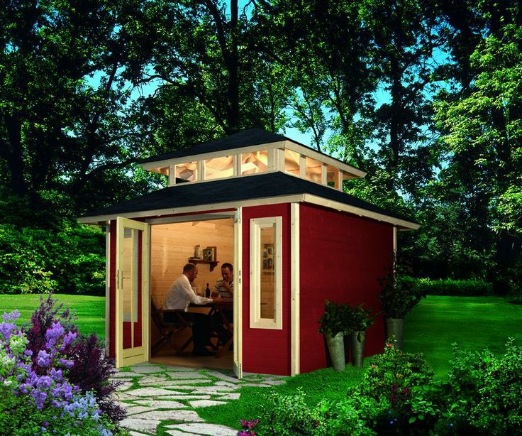 73 best images about abris pergolas cabanes outdoor on - Cabane jardin karibu besancon ...
