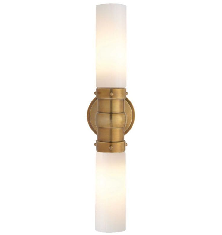 Modern And Elegant, Our Graydon Double Wall Sconce Features White Glass  Tube Shades. *