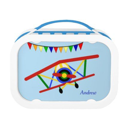Cute Airplane Kids Personalized Lunch Box - red gifts color style cyo diy personalize unique