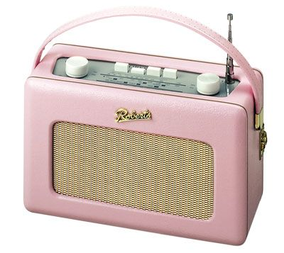 Cute retro inspired Roberts Revival digital radio for listening to in the kitchen