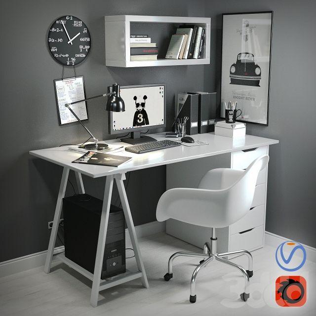 Рабочий стол в скандинавском стиле