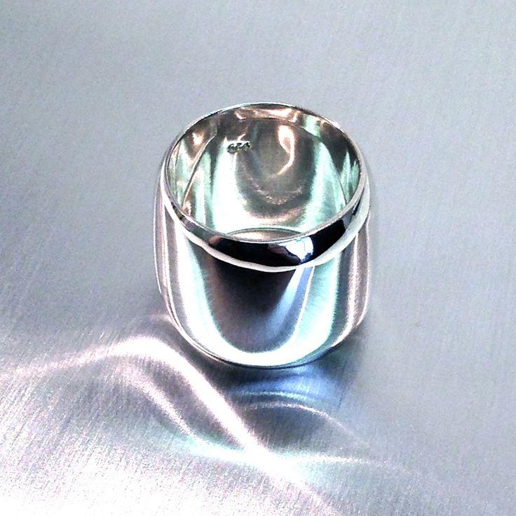 Fab Sterling Silver wide ring. Kristina Karter Jewellery Design