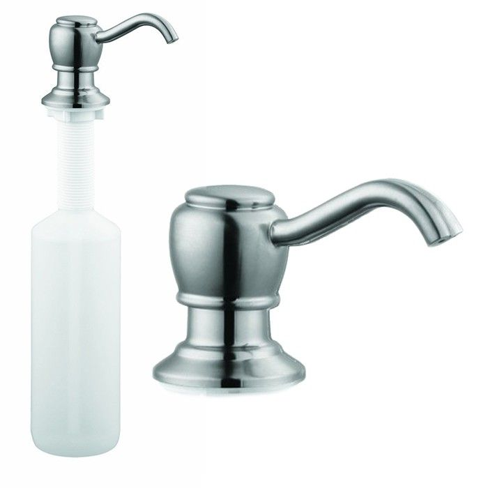 The Design House 522250 Satin Nickel Kitchen Soap Pump Features A Solid Brass Spout With An Easy To Fill Sink Soap Dispenser Soap Pump Dispenser Soap Dispenser