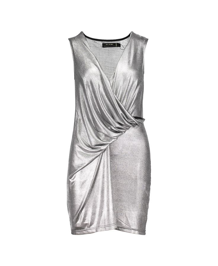 REFLECTIVE DRESS - GUNMETAL - New In - Womens