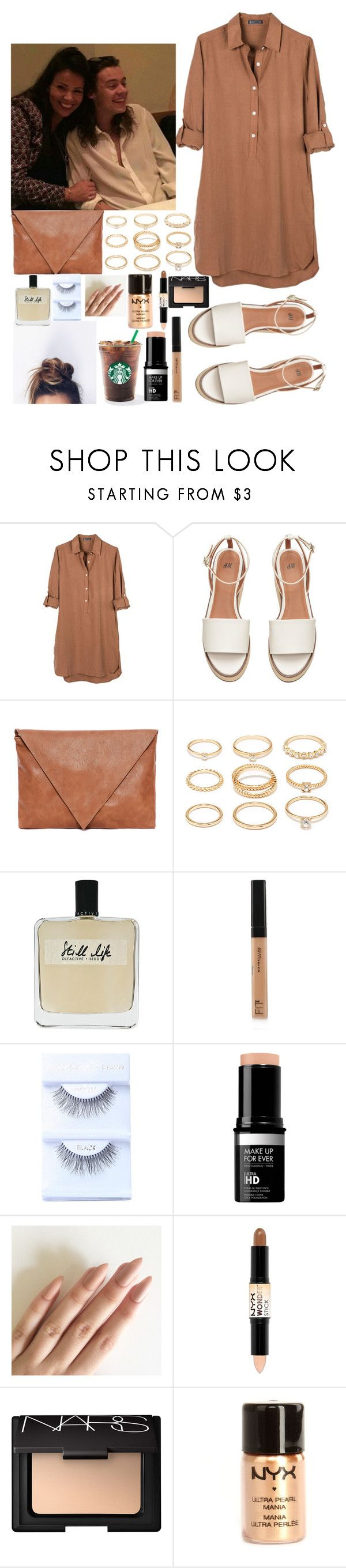 """Dinner with Harry and Anne"" by kennedey-lynn-freeman ❤ liked on Polyvore featuring United by Blue, Pull&Bear, Forever 21, Olfactive Studio, Maybelline, NYX and NARS Cosmetics"