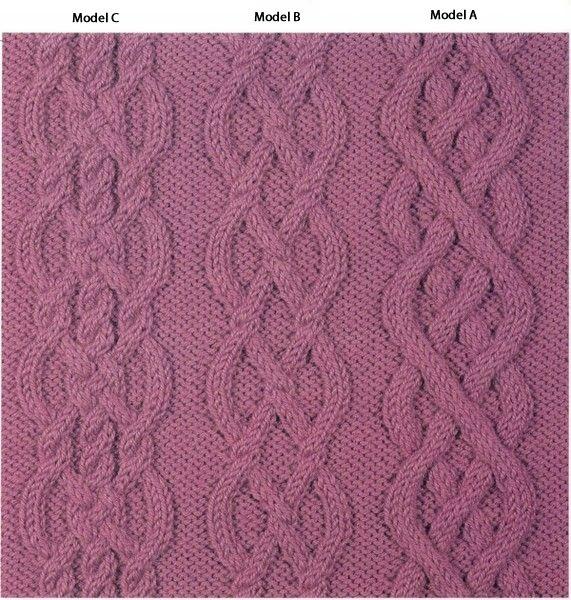 Three Aran knitting patterns