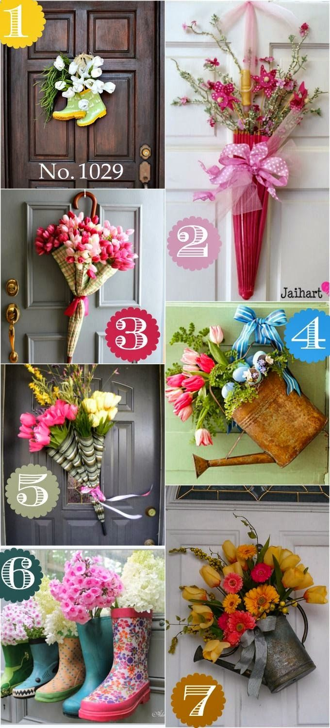Best DIY Projects: 36 Spring door decor ideas that are not a wreath.