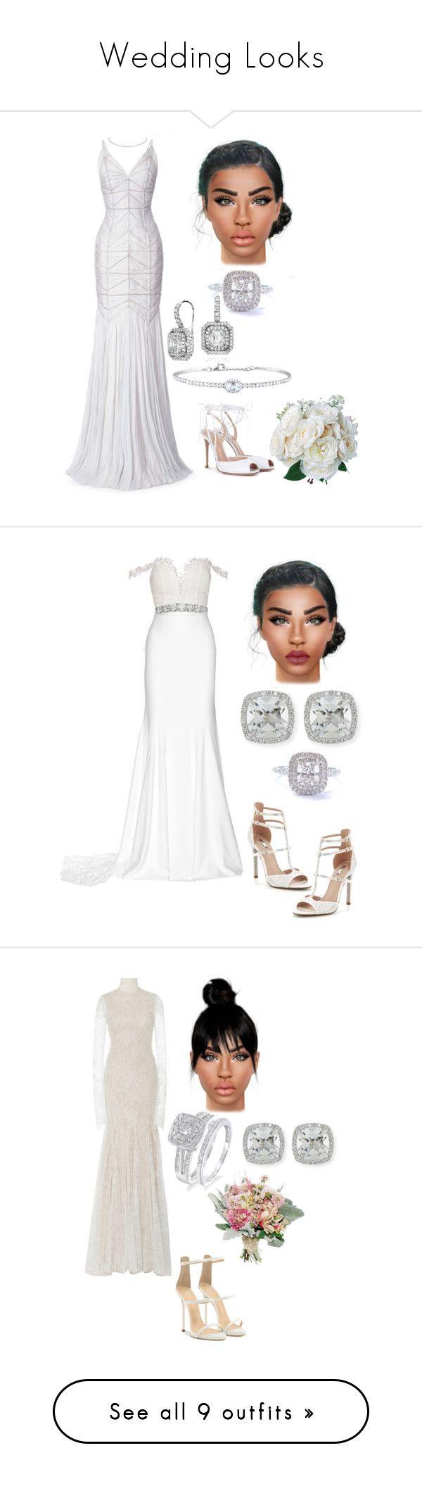 """Wedding Looks"" by kimba515 ❤ liked on Polyvore featuring J. Mendel, Tiffany & Co., Blue Nile, Rina Limor, Gianvito Rossi, Rime Arodaky, Carvela, Modern Bride, Frederic Sage and Vera Wang"