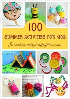 Die ultimative Liste von 100 Sommeraktivitäten für Kinder   – For school