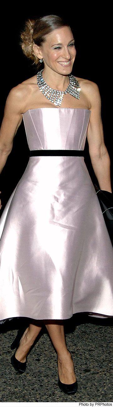Sarah Jessica Parker Wearing Peter Soronen Dress - 2005 Neil Simon's The Odd Couple Broadway Opening Night - October 27, 2005.