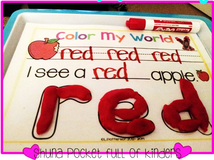 Pocket Full of Kinders!: FREE color word playdough mats