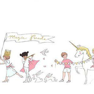 Sarah Jane, Magic, Magical Parade Double Border in White Metallic