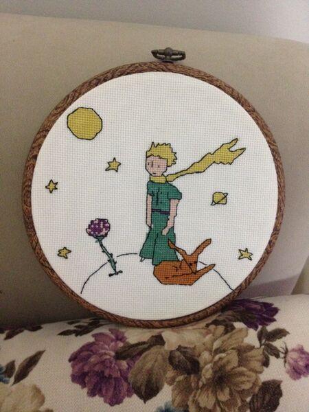KANAVİÇE ( cross stitch ) küçük prens