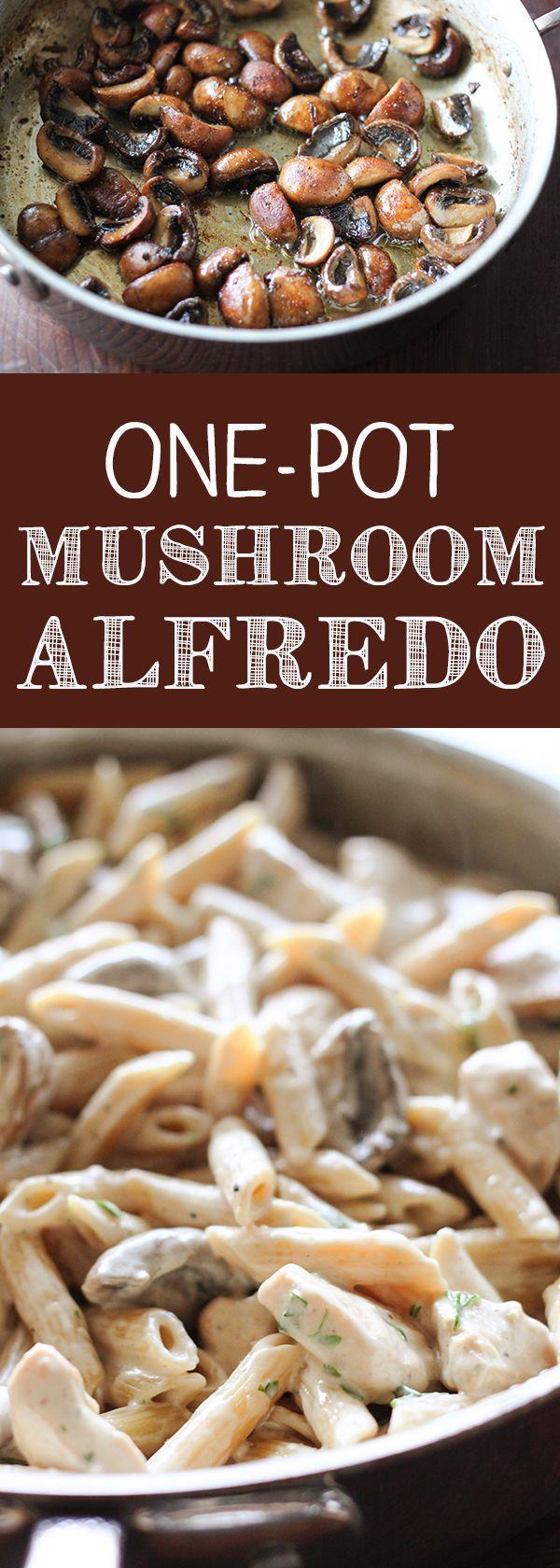 One-Pot Portobello Mushroom Alfredo
