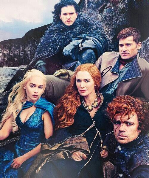 Cast of Game of Thrones by Annie Leibovitz - her photos / images are great, but the poses and expressions make this true art