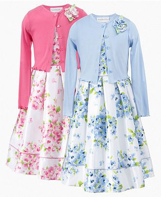 do something like this for S & R matching styles different colors.   Love these dresses