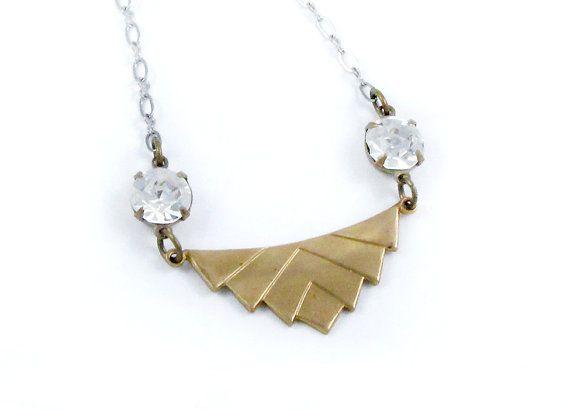 Chevron Necklace Art Deco Jewelry Geometric by laurenblythedesigns, $35.00: Sparkle Deco, Art Deco Jewelry, Rhinestones Necklaces, Necklaces Art, Chevron Necklaces, Art Deco Necklaces, Necklaces Rhinestones, Geometric Necklaces, Gold Chevron