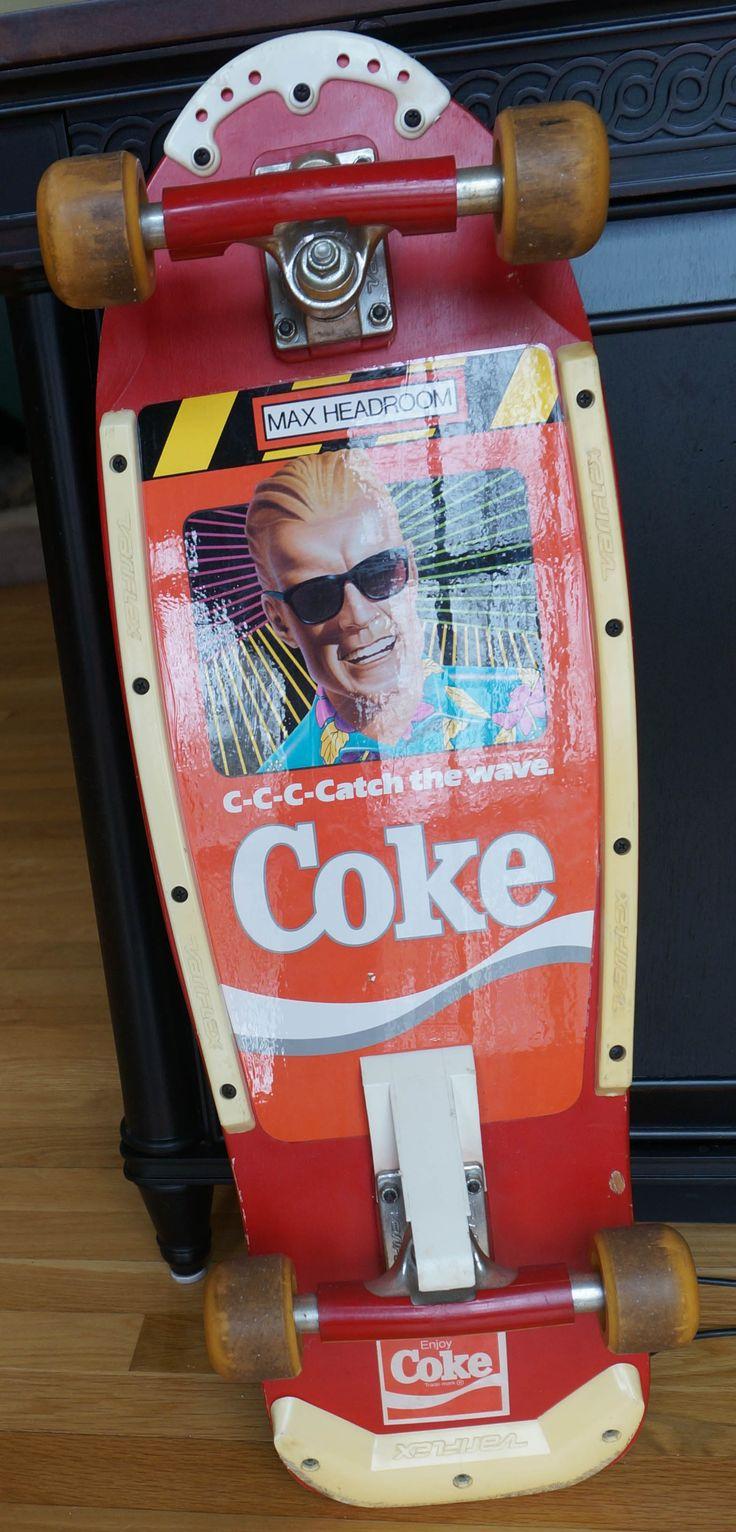"""Variflex """"Max Headroom"""" Coke skateboard. I had wanted one for a long time. Board looks just as it did in the 80's."""