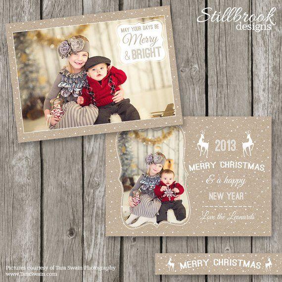 Rustic Christmas Cards Kraft Christmas Card Templates Etsy Christmas Photo Card Template Rustic Christmas Cards Christmas Card Template