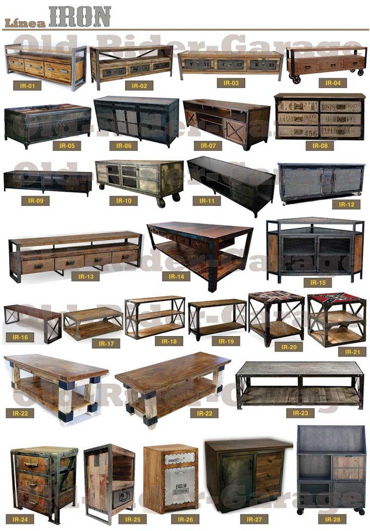 22 best old rider garage com muebles vintage muebles - Decoracion industrial vintage ...