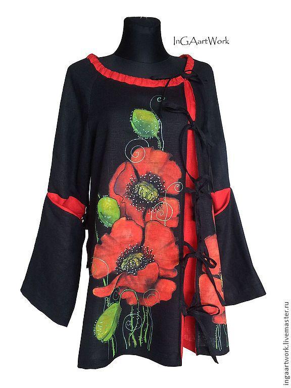 0bcae2eb0d3 Платья ручной работы. Ярмарка Мастеров - ручная работа. Купить Льняное  женское платье туника