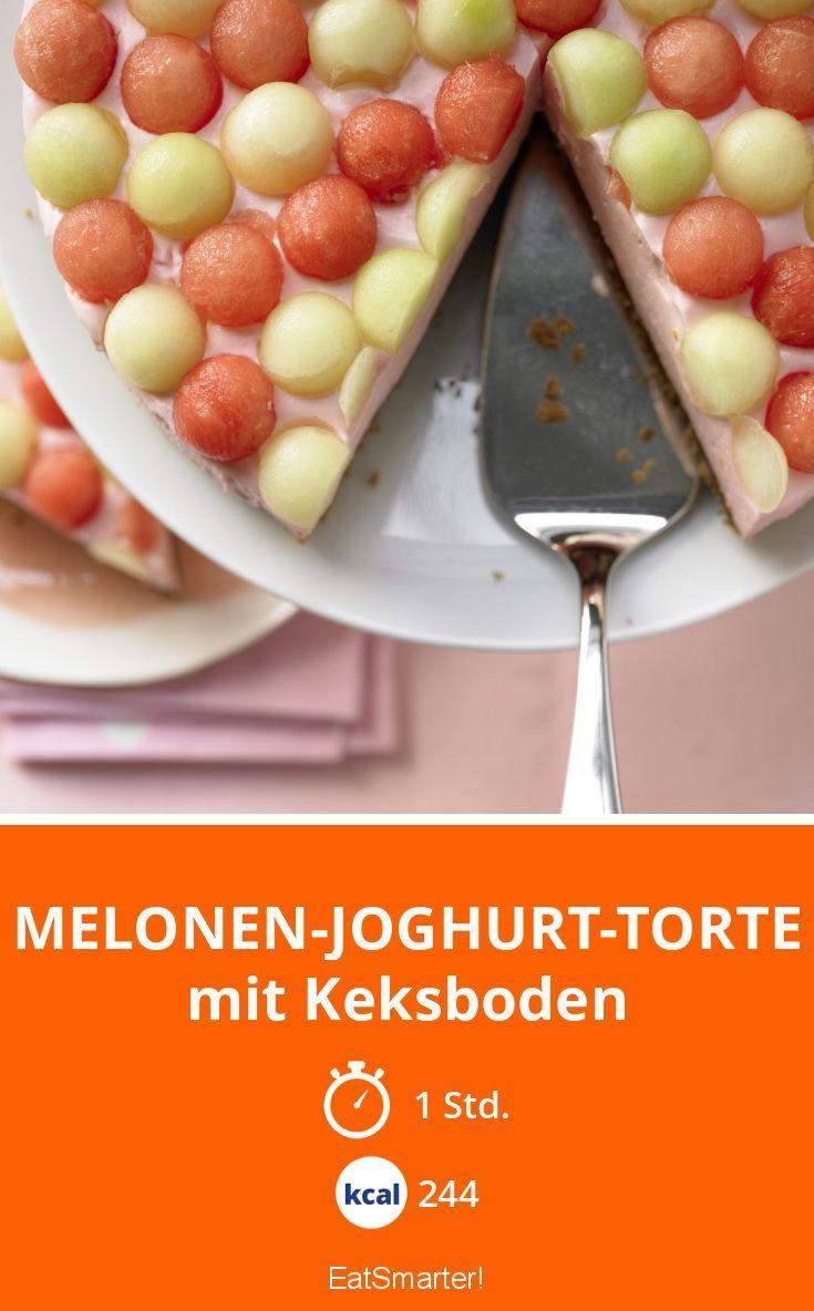 Melonen-Joghurt-Torte - mit Keksboden - smarter - Kalorien: 244 Kcal - Zeit: 1 Std. | eatsmarter.de