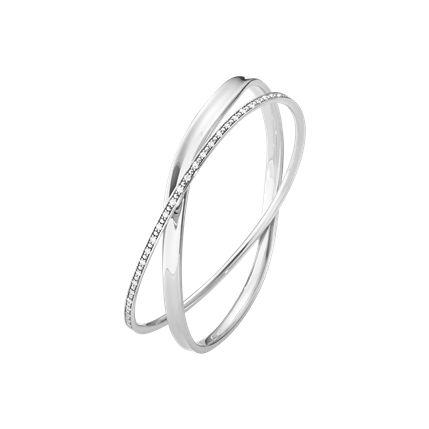 マルシア(MARCIA) バングル  - スターリングシルバー+ダイヤモンド