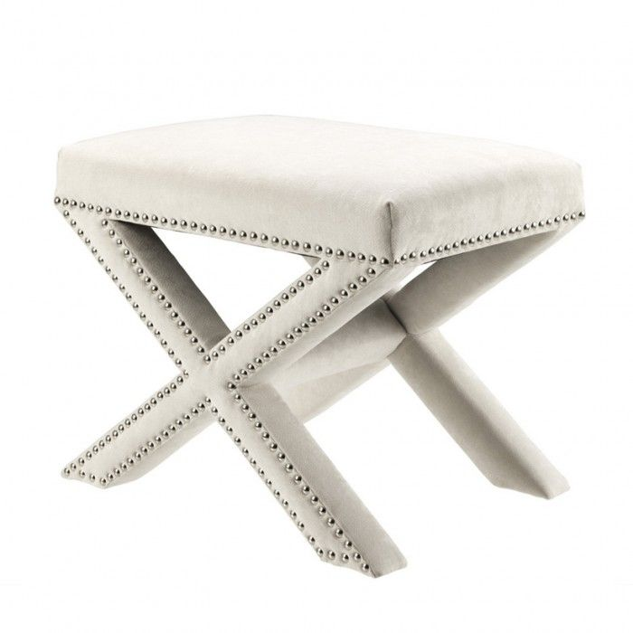 luxury white dressing table stool