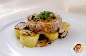 Filet mignon de porc farci aux cèpes - Cuisinenligne