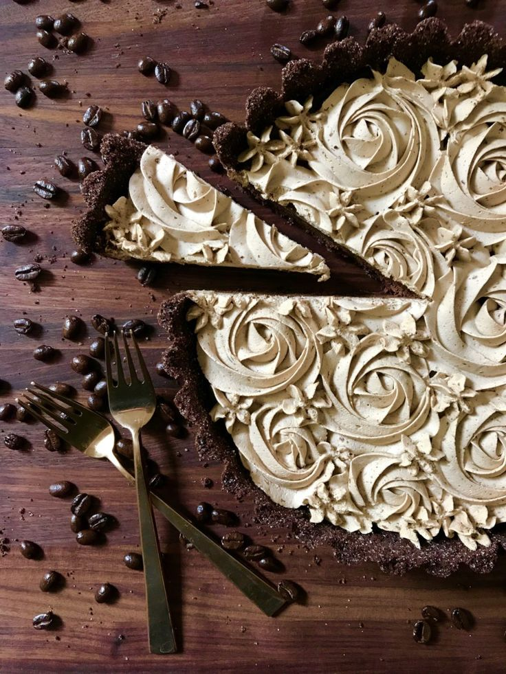 Dark Chocolate Espresso Tart