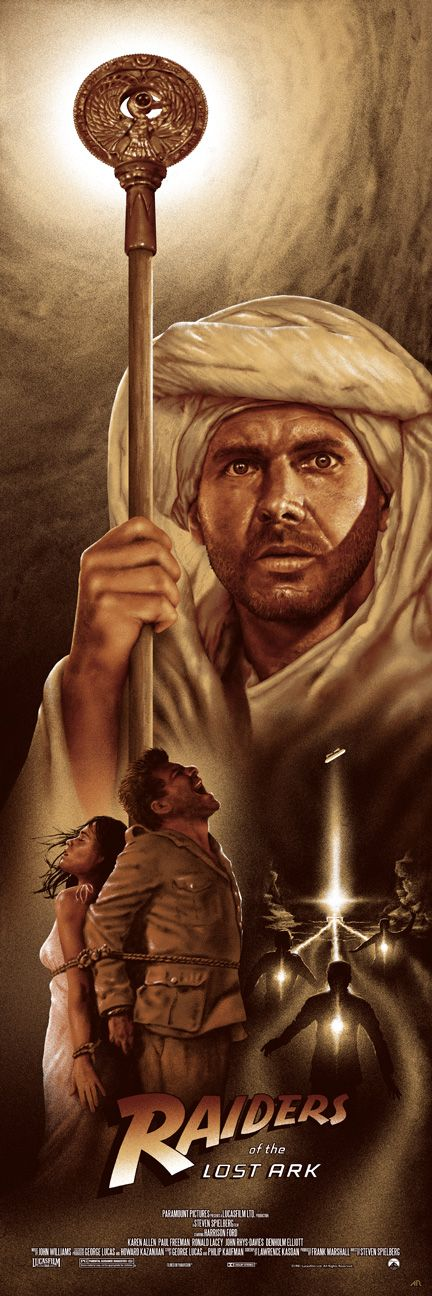 Raiders of the lost ark - por Adam Rabalais - http://adamrabalais.com/indiana-jones-trilogy/