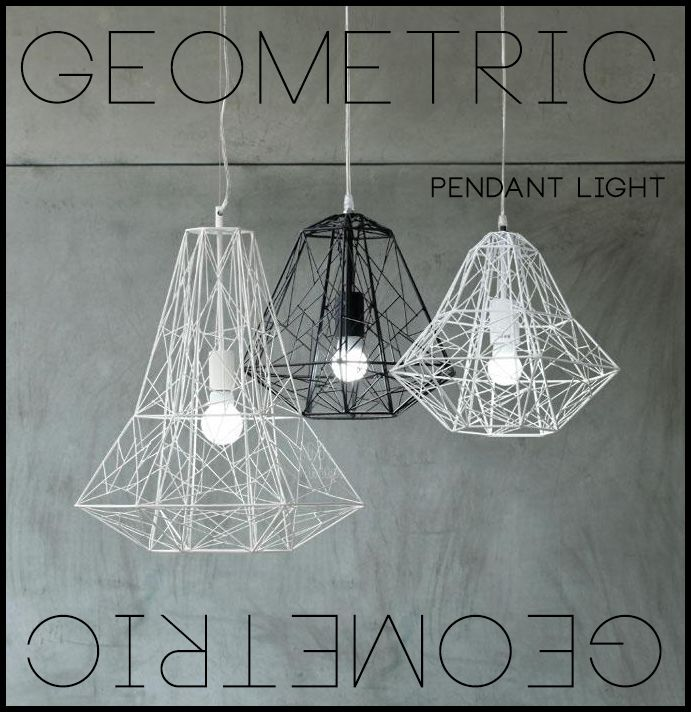 Geometric pendant light ebay