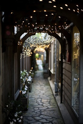 .: Houses, Twinkle Lights, Walkways, White Lights, Fairies Lights, Arches, Pink Scarves, Pathways, Places