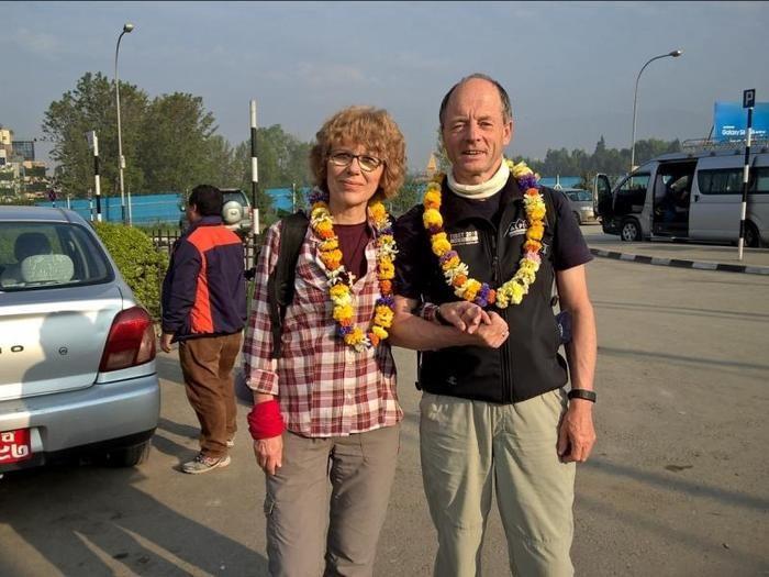 Über die Hauptstädte Nepals und Tibets, Kathmandu und Lhasa, näherten sich Marietta und Berthold Honka dem Achttausender Cho Oyu - doch die schwere Erdbebenkatatsrophe zwang sie zur Umkehr. Fotos: Berthold Honka