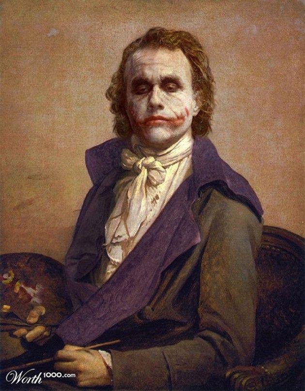 #Joker #Coringa Heróis e Vilões dos filmes são misturados em Obras de arte