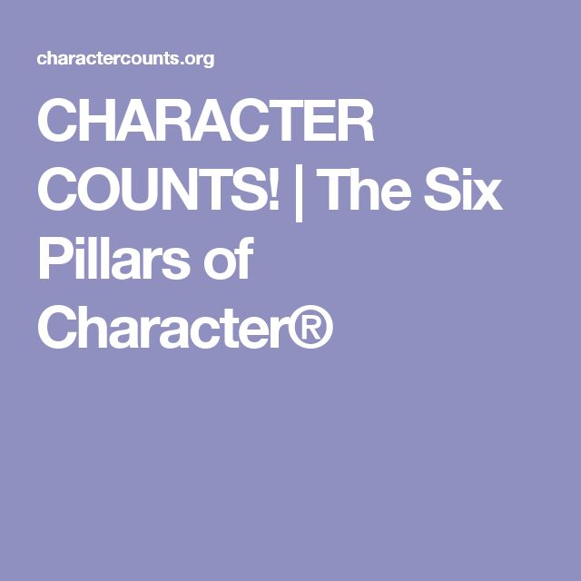 best pillars of character ideas pillars of  the six pillars of character®