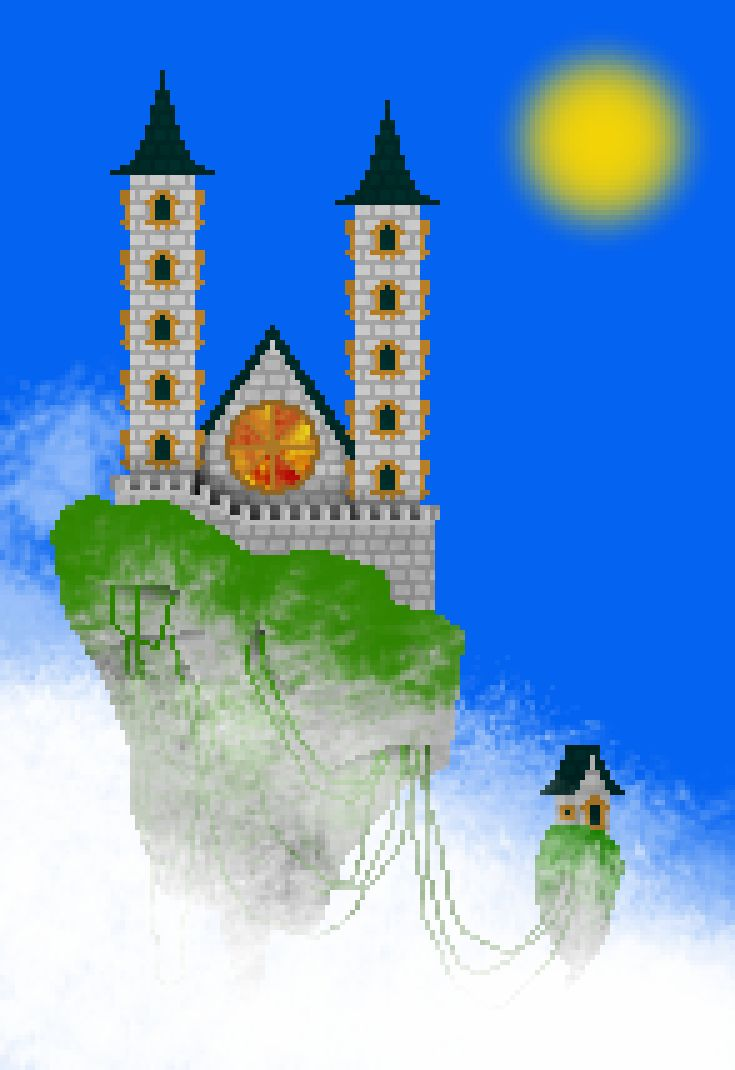 Skyland.   You can see the creation of this pixel art here: https://youtu.be/phboNK63R5s