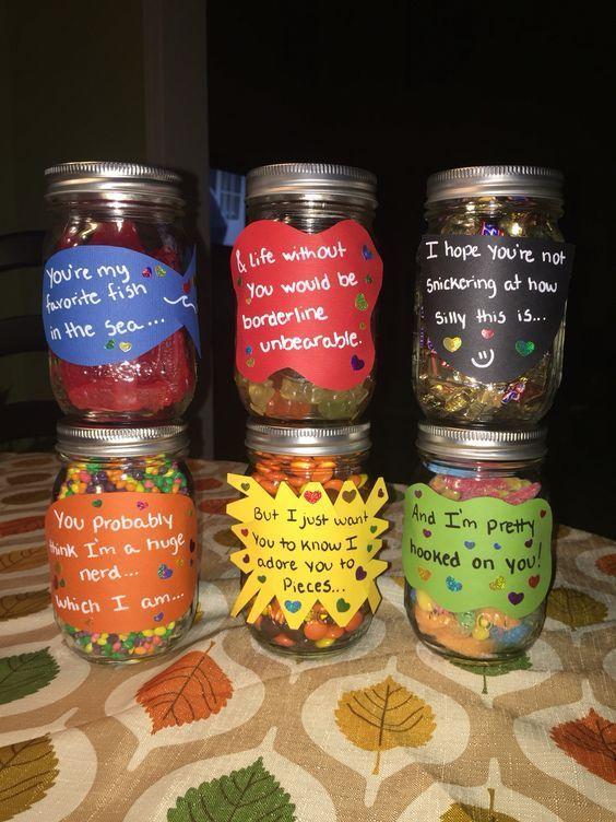 Candy Jar Messages | DIY Valentines Crafts for Boyfriend