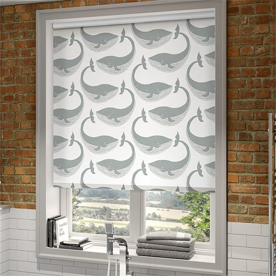 New Splash Whale of a Time Slate Roller Blind