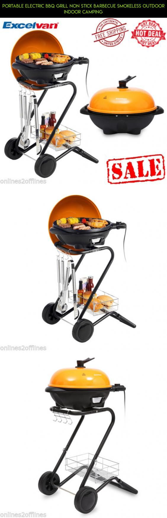 Portable Electric BBQ Grill Non Stick Barbecue Smokeless Outdoor Indoor Camping #tech #outdoor #gadgets #fpv #technology #plans #kit #drone #electric #grills #parts #products #indoor #camera #racing #shopping