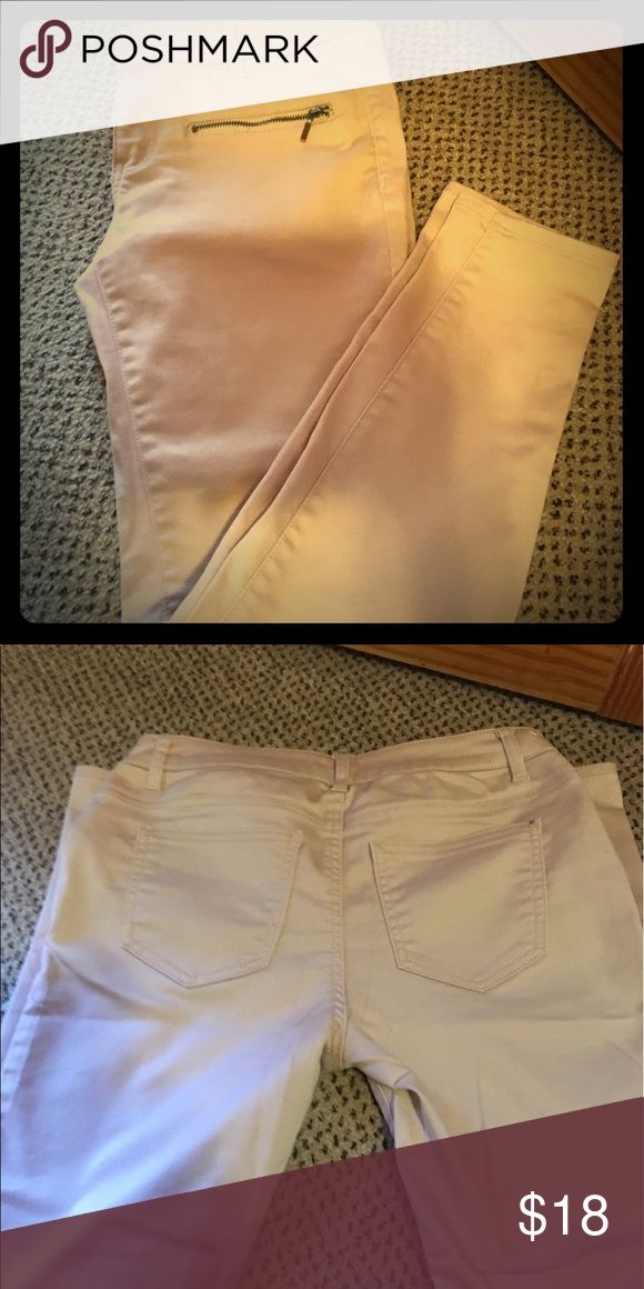 Rose colored skinny Jean Straight legged Rose colored skinny Jean size 5 Forever 21 Pants Skinny