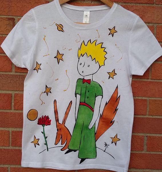 Maglietta+donna+Il+Piccolo+Principe+di+cose+dipinte+su+DaWanda.com