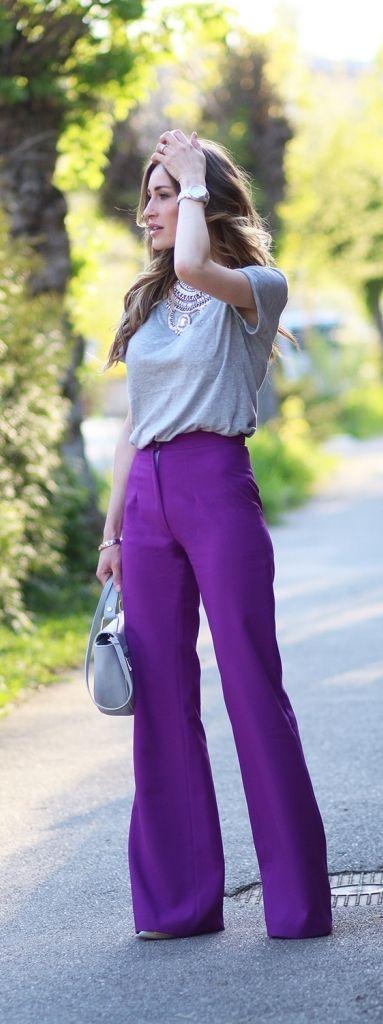 Basic + wide leg pants | https://www.pinterest.com/shopsatwestend/the-fashion-community/
