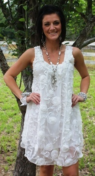 giddy up glamour.....white lace...pretty