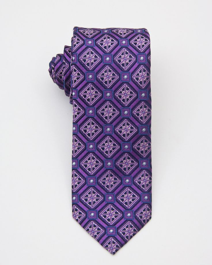 Boy's Tie 20690 Purple/Pink