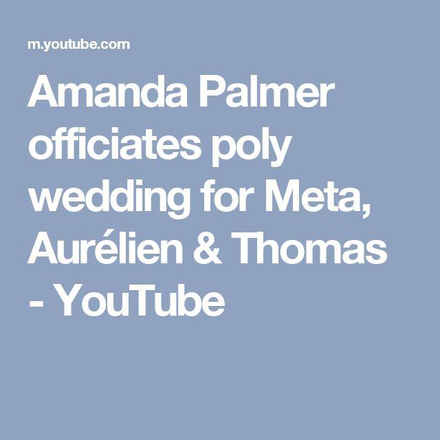 Amanda Palmer officiates poly wedding for Meta, Aurélien & Thomas - YouTube