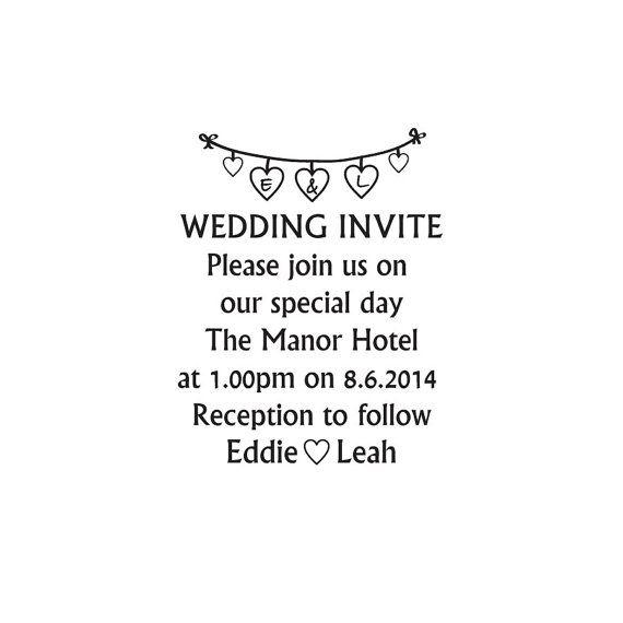 Wedding Invite stamp custom Wedding invitation by Stampitworldwide
