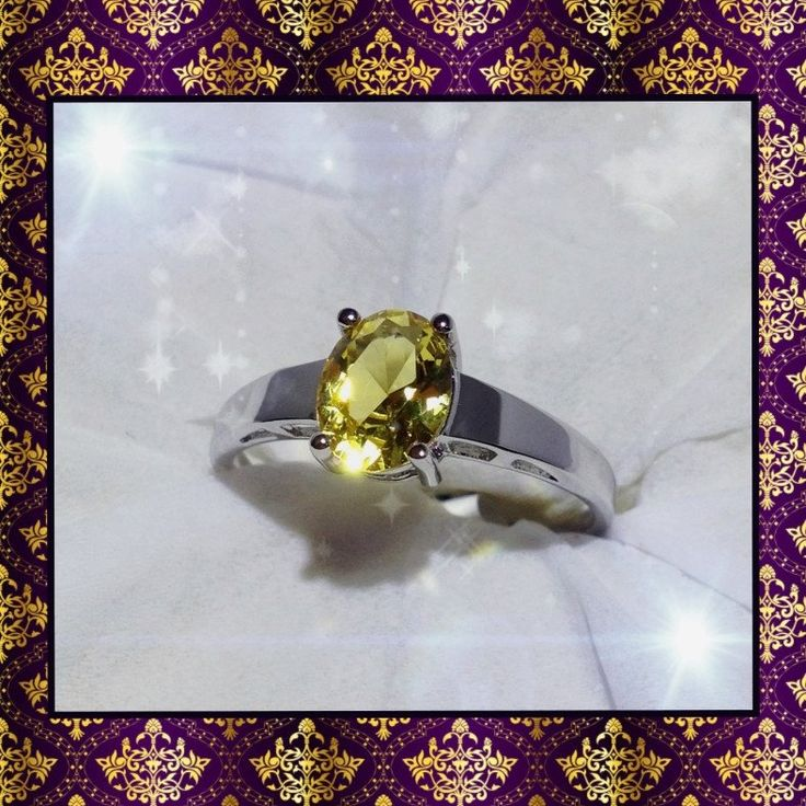 Citrine silver filled ring......ONE ONLY