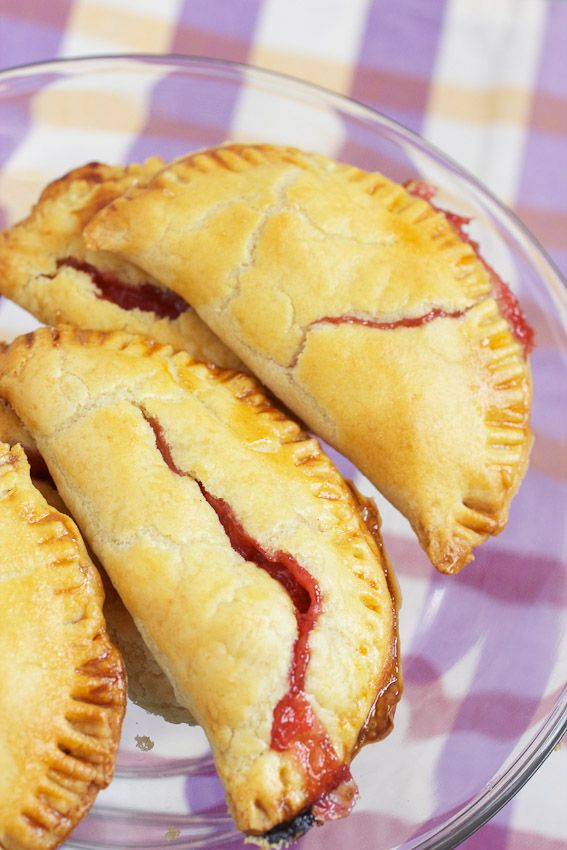 Strawberry Rhubarb Hand Pie from The Girl In The Little Red Kitchen