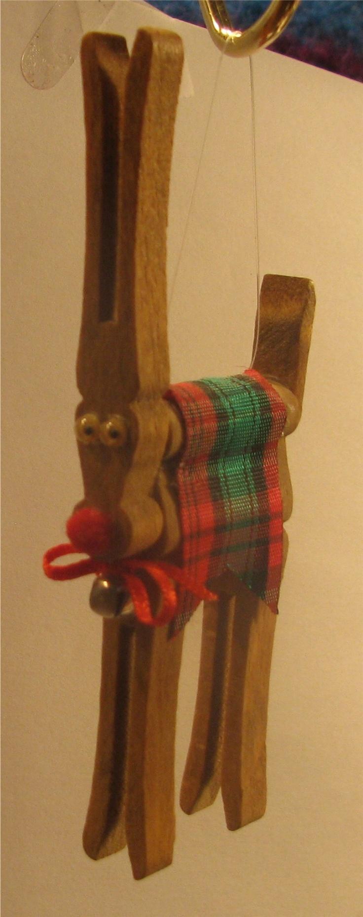 Original Vicki - clothespin reindeer